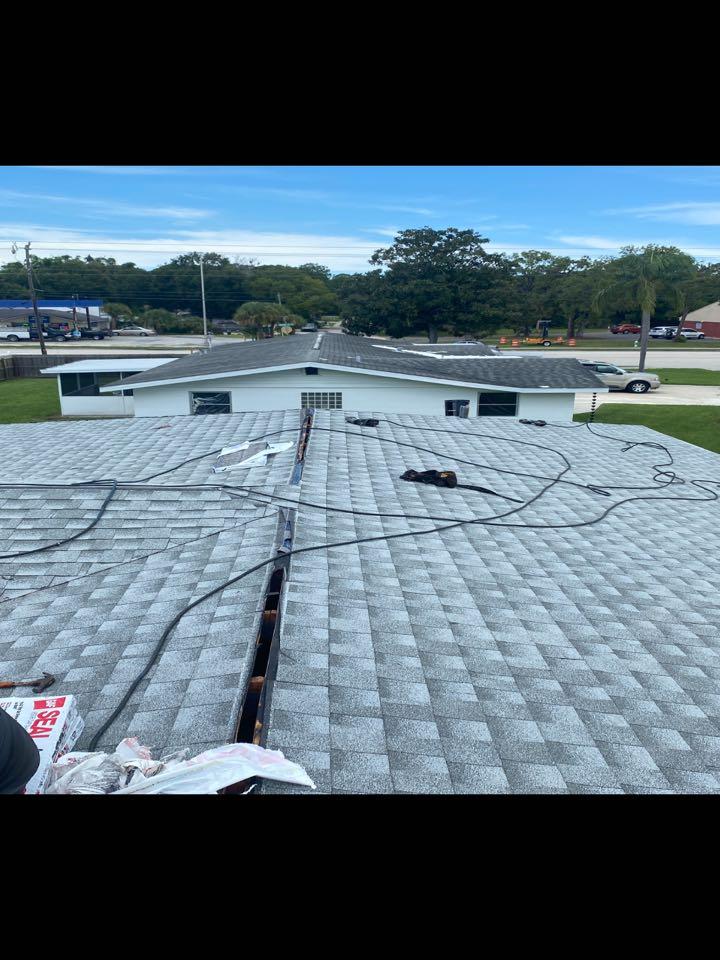 Englewood, FL - Shingle job in progress (Color: Birchwood)