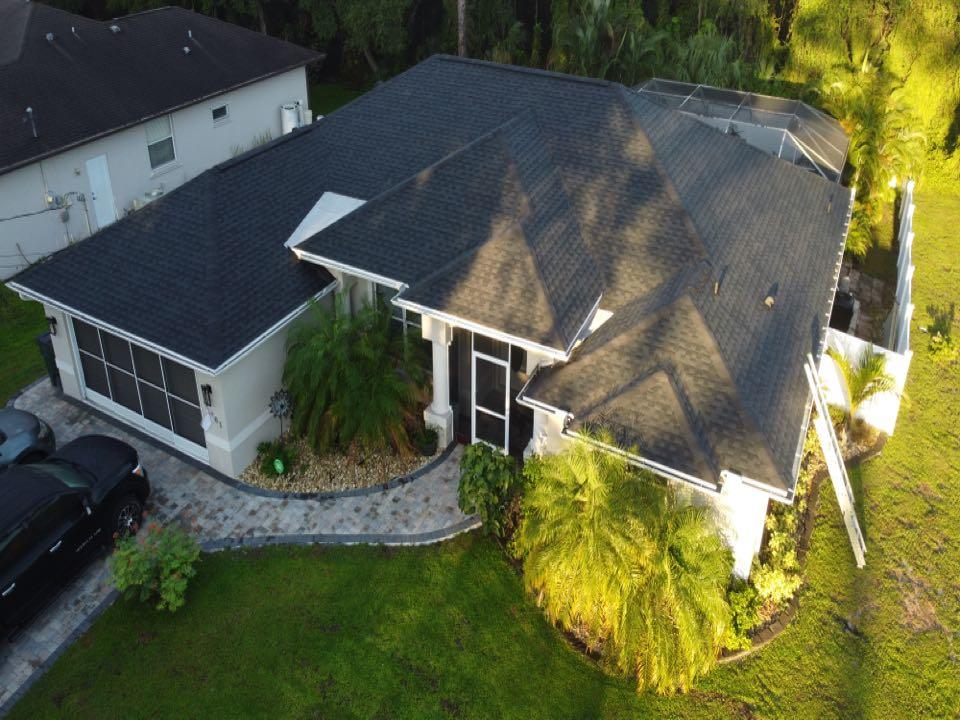 North Port, FL - GAF Charcoal Shingle Roof