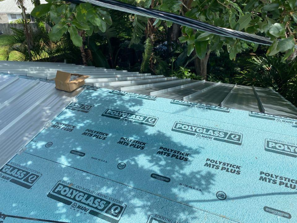 Venice, FL - Standing Seam Metal Roof Inprogress