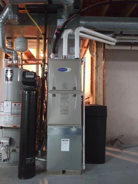 Dayton, OH - Installed full Carrier system and customer noticed hot water was not hot afterwards Technician was able to get hot water tank re lit with no issues. All valves were checked prior to doing anything with the tank and all were found open. Customer is still having a plumber come out to check.