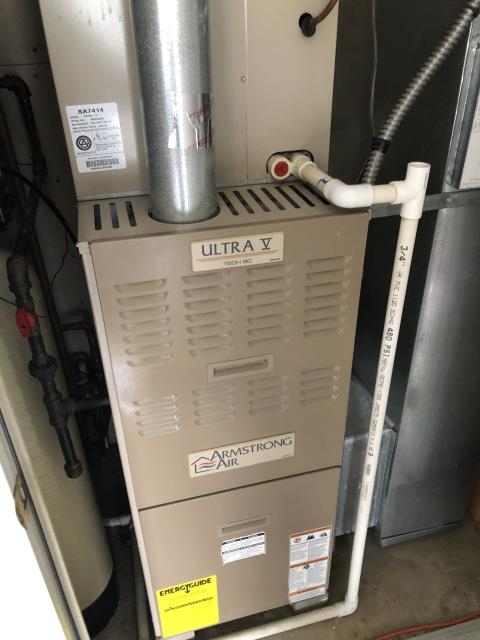 Springboro, OH - During a tune up on a 2002 Armstrong furnace, I found that the Motor Surge Capacitor 1-7.5MSC is reading low and replaced it for customer. I advised customer that the circuit board will also need replaced soon. Everything working and heating properly on departure.