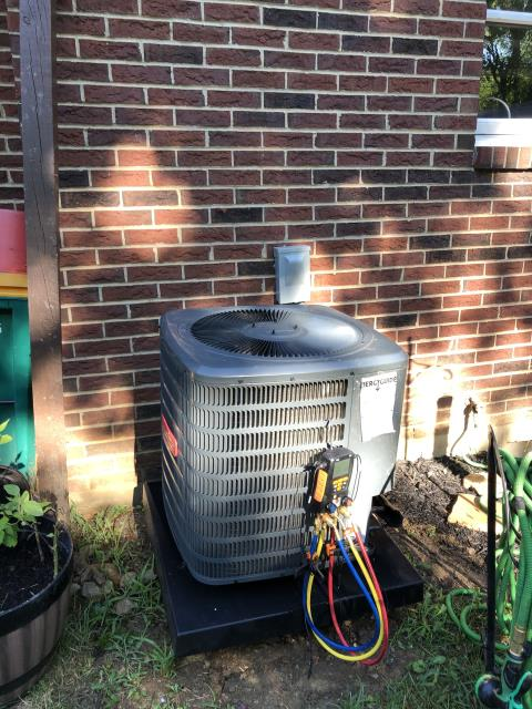 Springboro, OH - I performed a tune up on a Goodman air conditioner. Everything checked out within specs. System is operational upon departure.