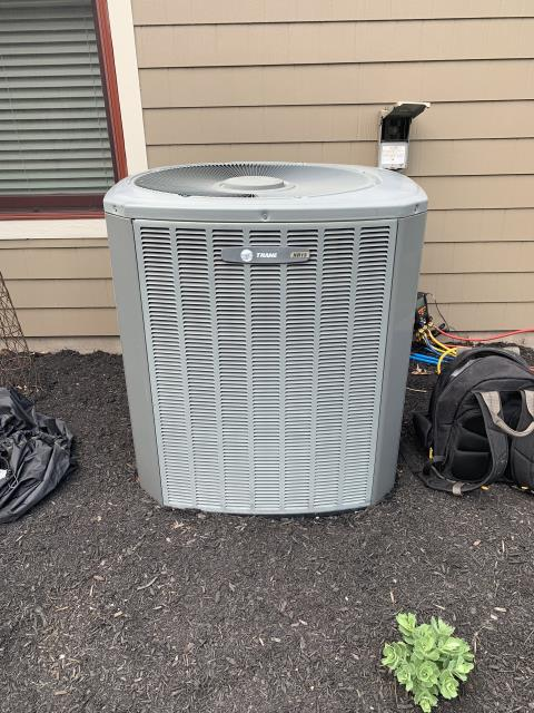 Springboro, OH - I performed a tune up on a Trane A/C unit. I noticed the Motor Surge Capacitor was out of specs and needed replaced. I replaced and cycled the unit to ensure everything else was working properly. System is operational upon departure.
