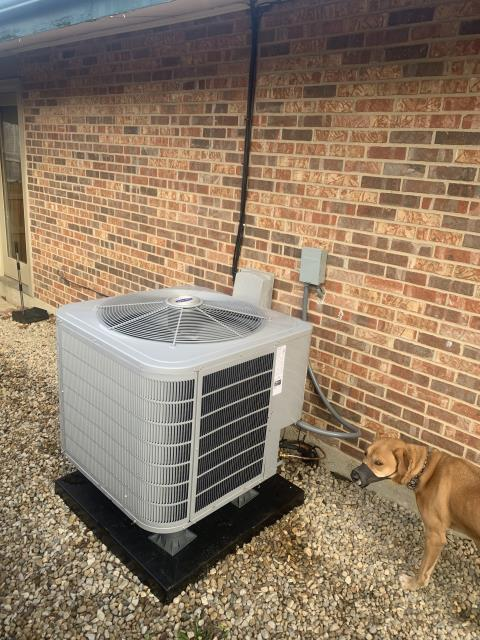 Dayton, OH - I performed a tune up on a  Carrier 16 SEER 3 Ton Heat Pump. I noticed the system need 1lb of refrigerant to be within the recommended range. Everything else checked out within specs. System is operational upon departure.