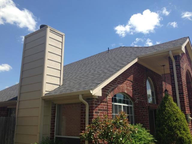 Arlington, TX - Roof Install:  CertainTeed Landmark (Moire Black) Shingles.