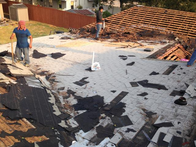Arlington, TX - Roof Install: CertainTeed Landmark (Moire Black) Shingles, two layer tear off and re-deck.