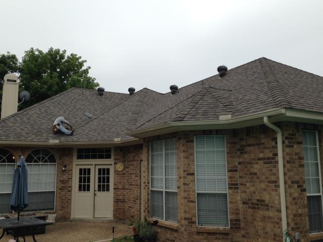 Arlington, TX - Roof Install: CertainTeed Landmark Maxdef (Weathered Wood) Shingles.