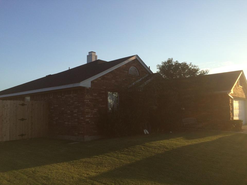 Ponder, TX - Installed GAF Timberline (Charcoal)  Hail Damage / Insurance Claim
