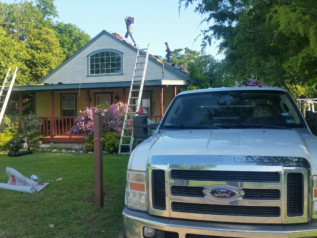 Fort Worth, TX - New roof install: Owens Corning Oakridge - Driftwood. Insurance claim roof replace due to hail damage.