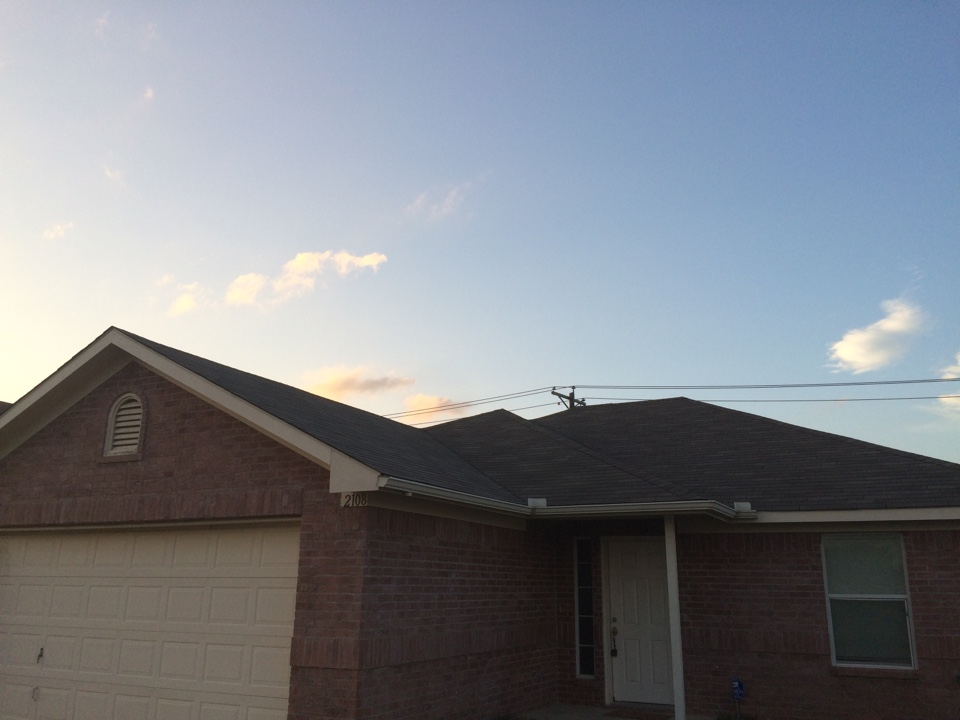 Fort Worth, TX - Fort Worth, re roof due to hail damage.