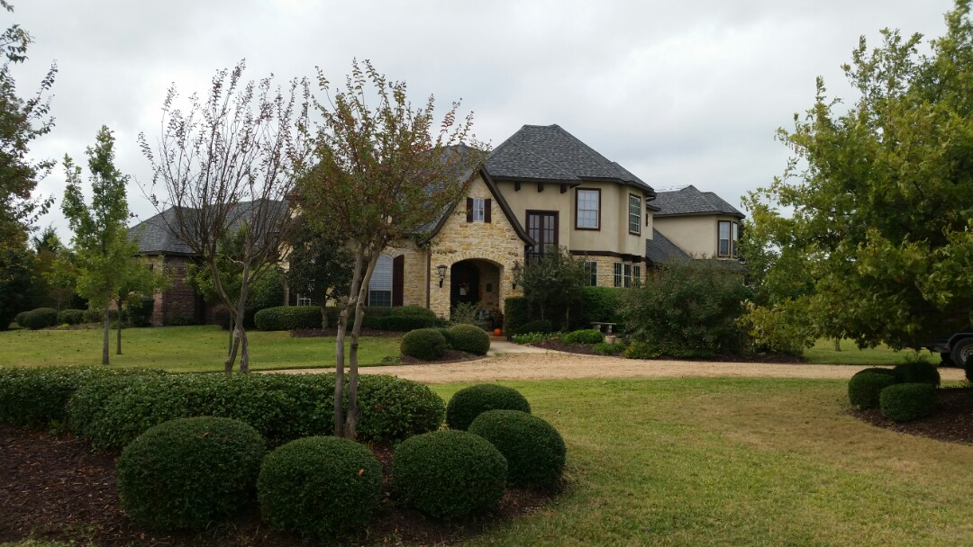 Lucas, TX - Installing Owens Corning Duration - Storm Cloud. Complete roof and gutter replacement due to hail damage.