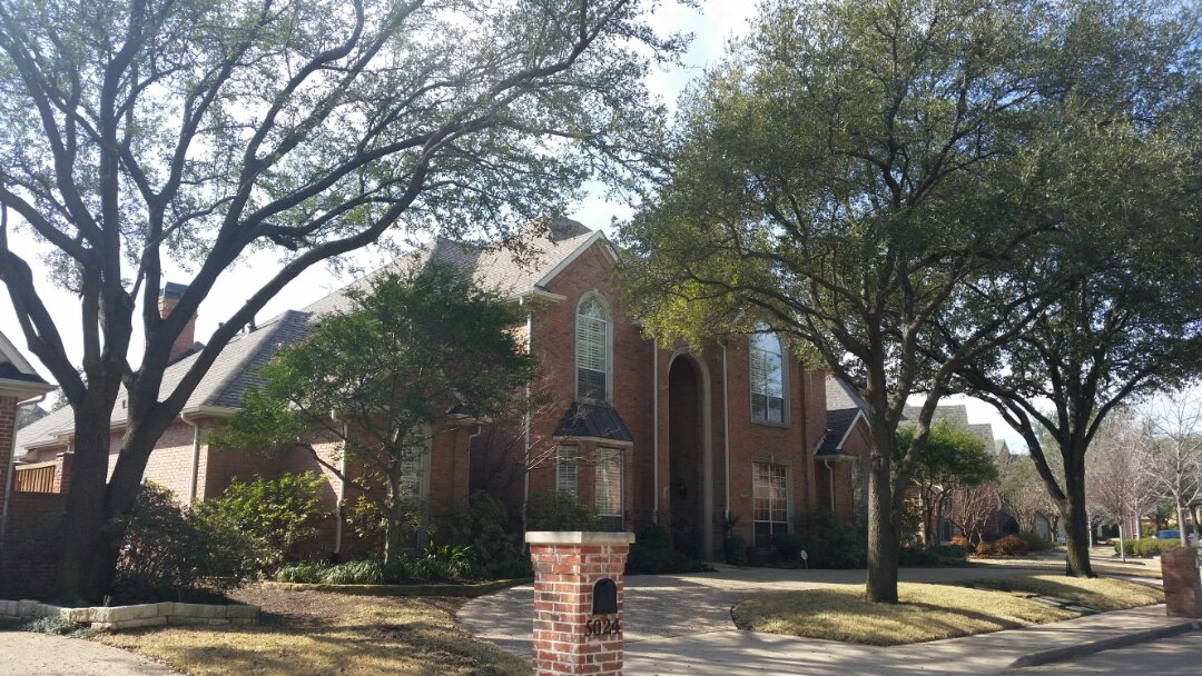Dallas, TX - Complete roof replacement due to hail damage.  GAF Timberline ArmorShield II (Impact Resistant)