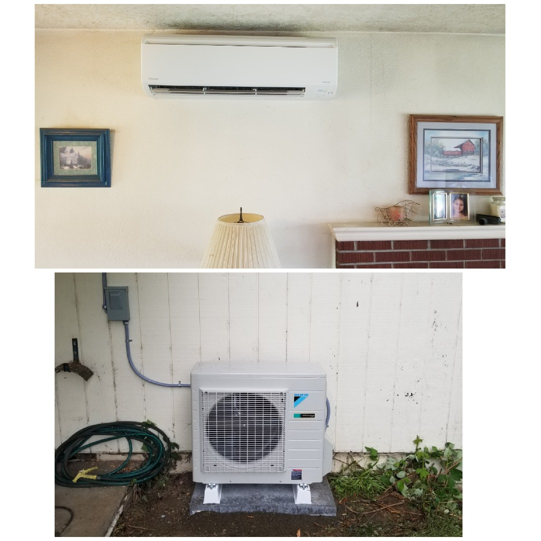 Forest Grove, OR - Ductless heatpump install in Forest Grove.