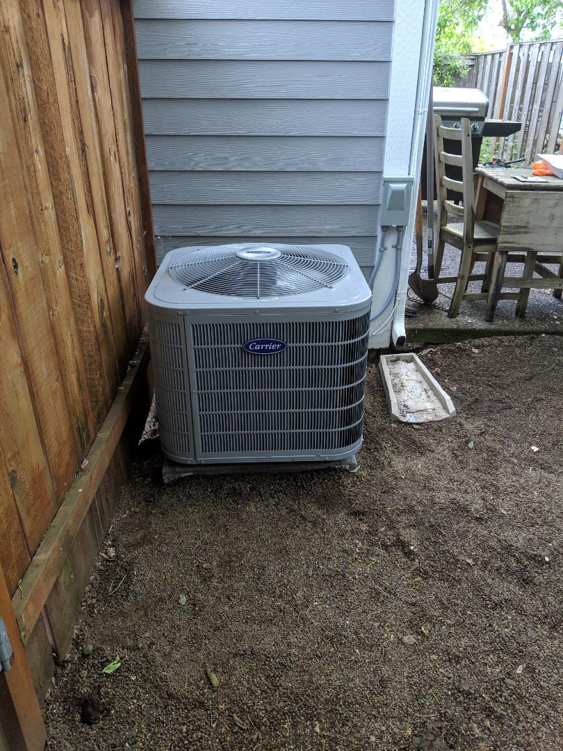 Portland, OR - Carrier Performance series 2 ton AC add on.