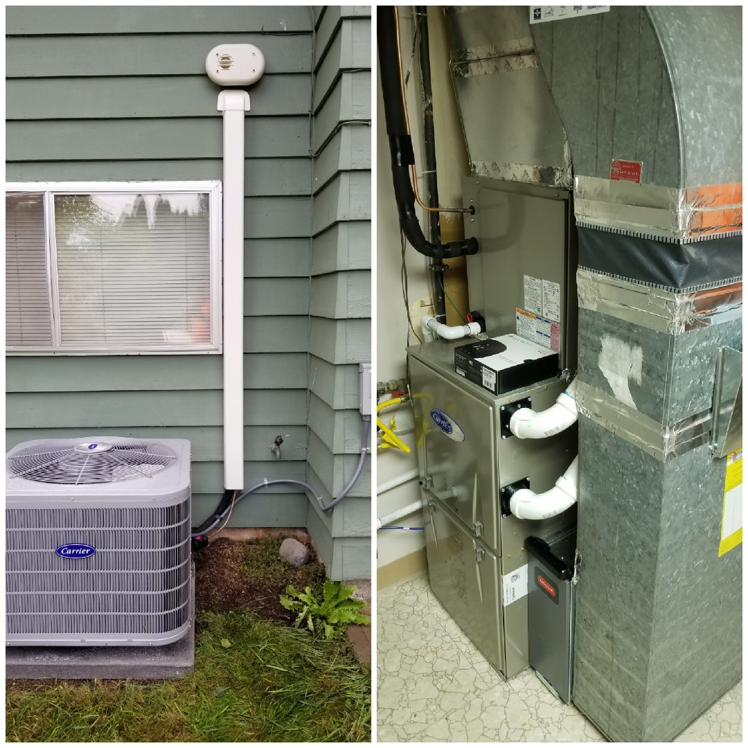 Portland, OR - Carrier furnace and air conditioner install in South West Portland