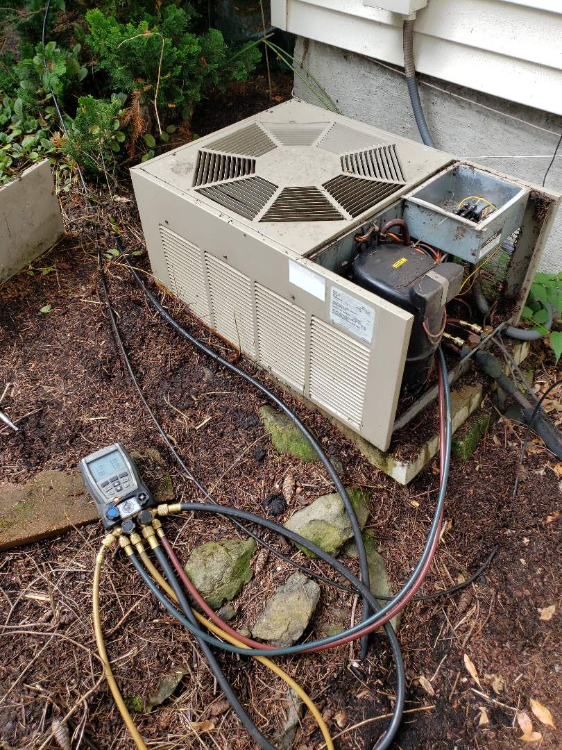 Beaverton, OR - Standard maintenance on a 31 year old ac system