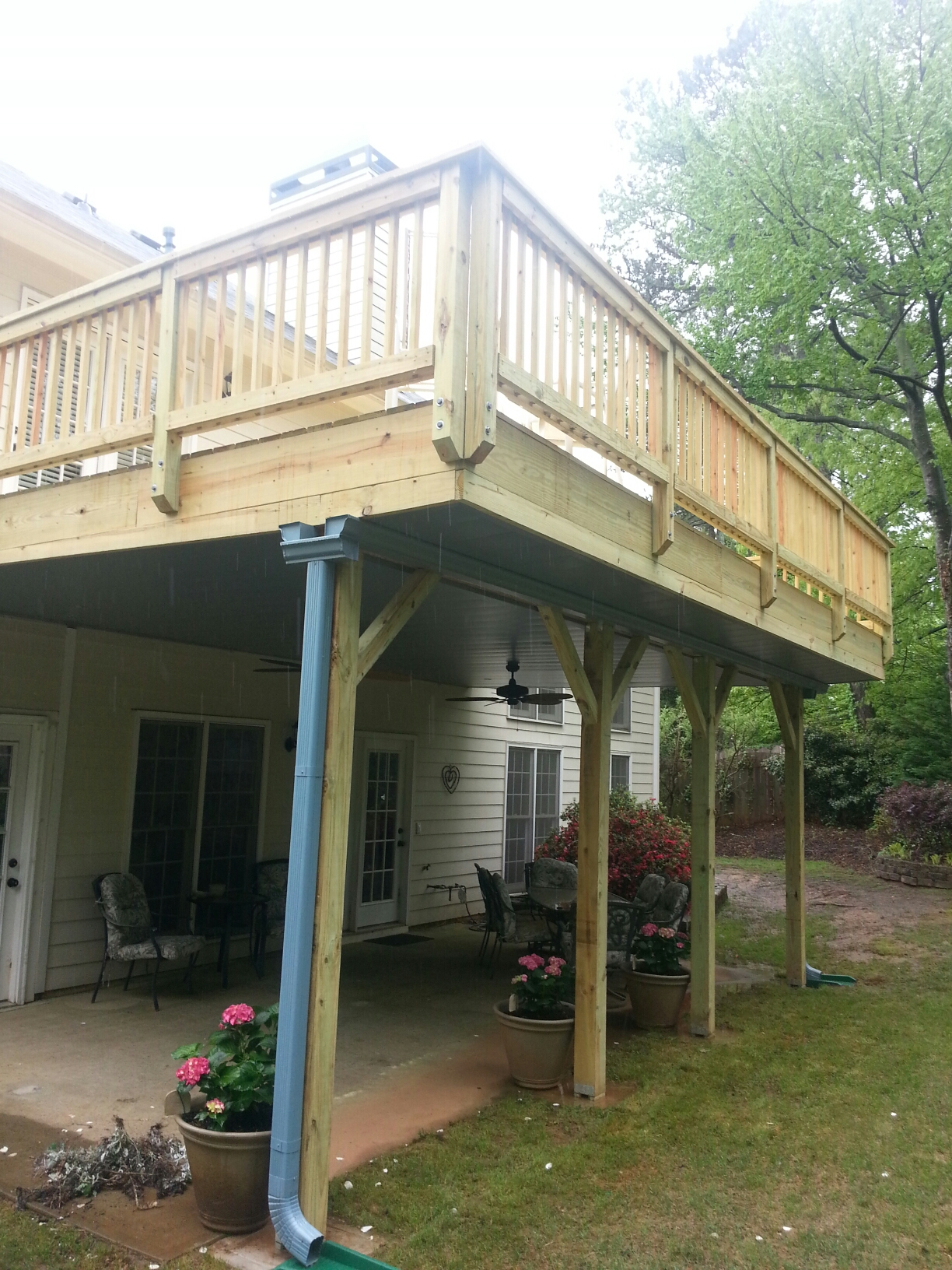 Atlanta, GA - New deck, undertook system from Southeastern Underdeck.