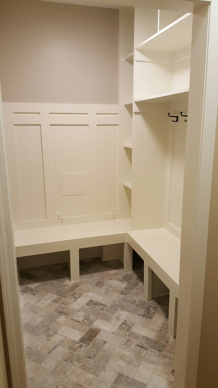 Alpharetta, GA - Built-out a mudroom in old laundry space.