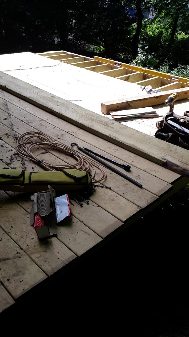 Arlington, MA - Installing this new PT deck