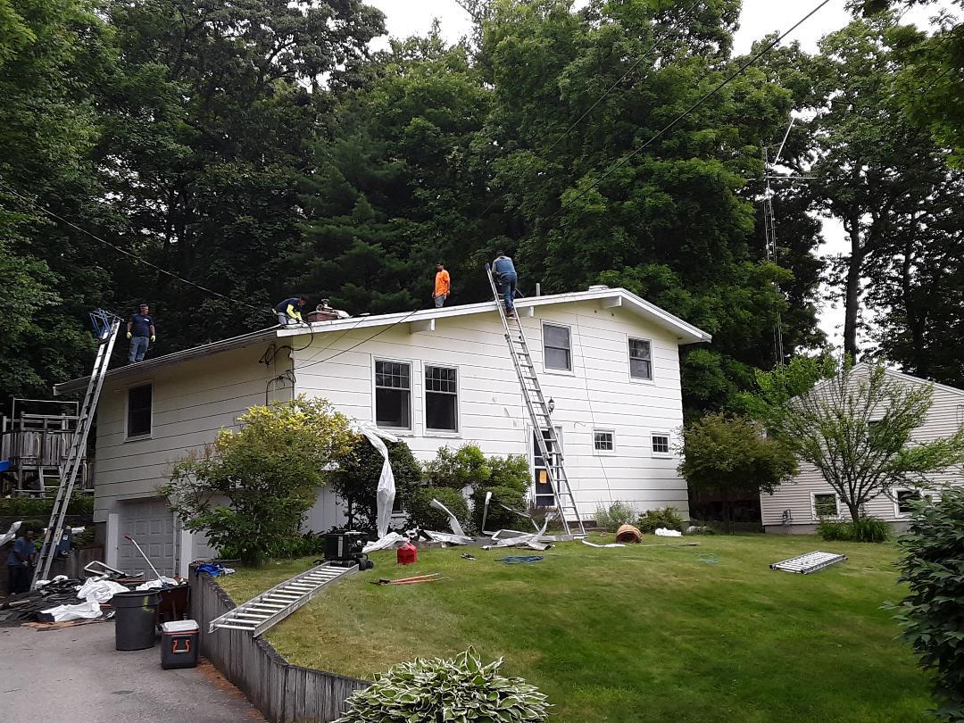 Hudson, MA - GAF Roofing,Gutters, soffits