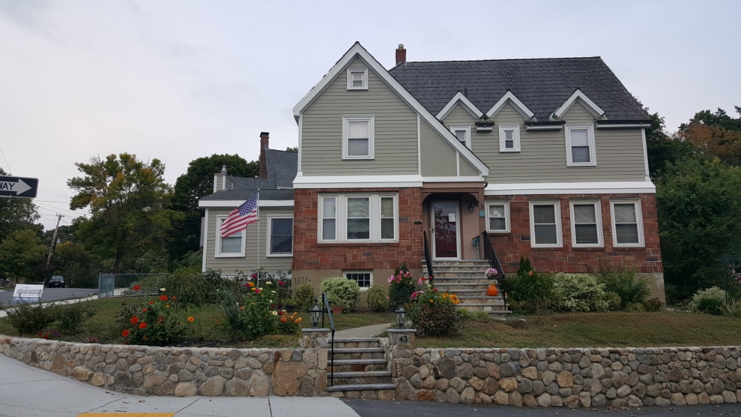 Arlington, MA - All done except for a few touch ups.   The siding of this well- loved home in Arlington, MA is updated with #JamesHardie Fiber Cement Clapboard Siding in #MontereyTaupe. Just  WOW! #SolidStateConstructionMA #JamesHardieElitePreferredContractor #MyHardieHome