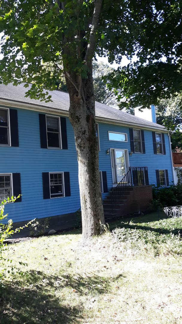 Winchester, MA - About to strip.and replace existing old shingles with new gaf architectural asphalt shingles