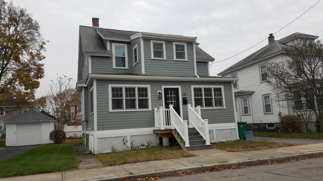 Lowell, MA - Dropping by this home in Lowell, MA to see the finish look of our work. We installed #JamesHardie #FiberCementSiding a couple of months ago.  #SolidStateConstructionMA  #PreferredEliteContractor #MyHardieHome