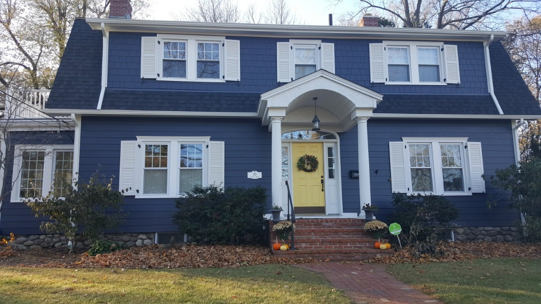 Worcester, MA - Taking After Photos of this home in Worcester, MA where we installed a combination of #JamesHardie #FiberCement #Siding #Clapboard and #StraightEdgedPanel #Shingles, #MarvinIntegrity #Windows and  custom made #Provia #Doors early this year.    #SolidStateConstructionMA  #MyHardieHome