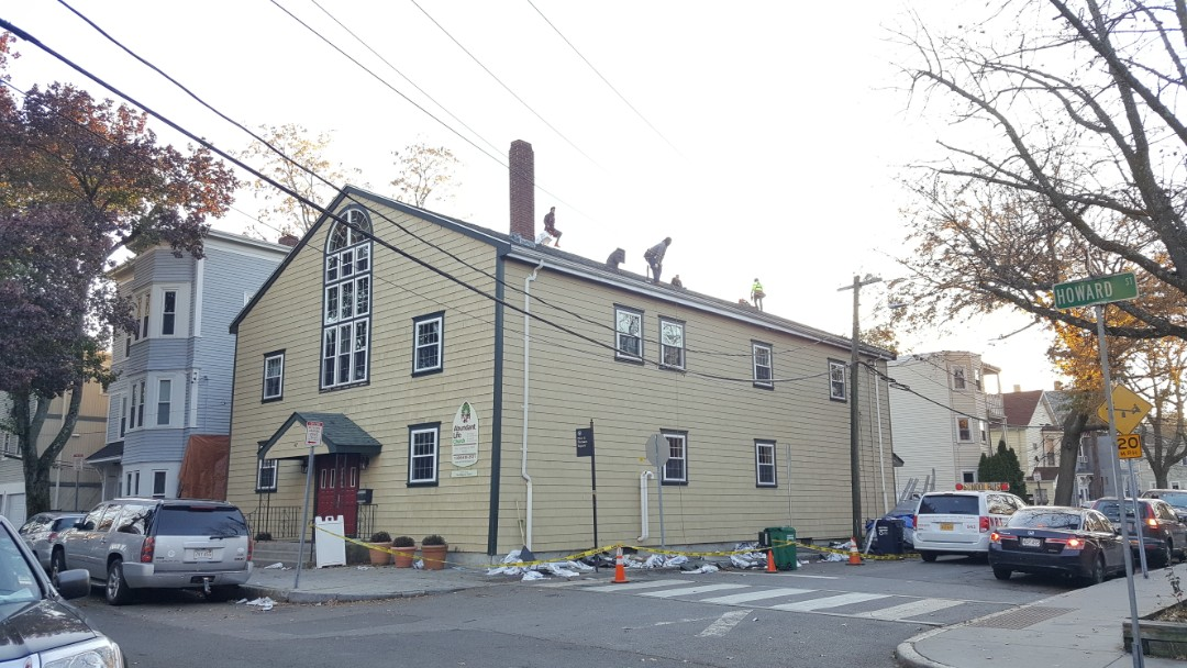 Cambridge, MA - We installed #GAF #Asphalt #Roof #Shingles  in one day in this church in Cambridge, MA.  #SolidStateConstructionMA
