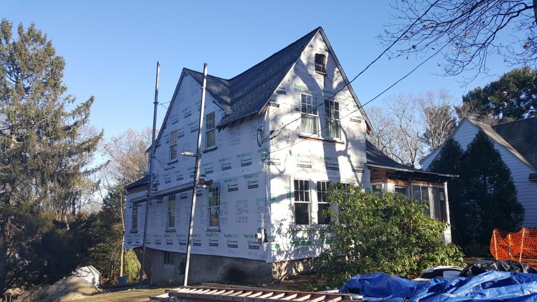 Needham, MA - All done installing #GAF #Asphalt #TimberlineHD #Roof in this home in Needham, MA. Soon we will be installing #JamesHardie #FiberCement #Siding over those #Hardie #HomeWrap.  #SolidStateConstructionMA  #MyHardieHome  #GAFRoof