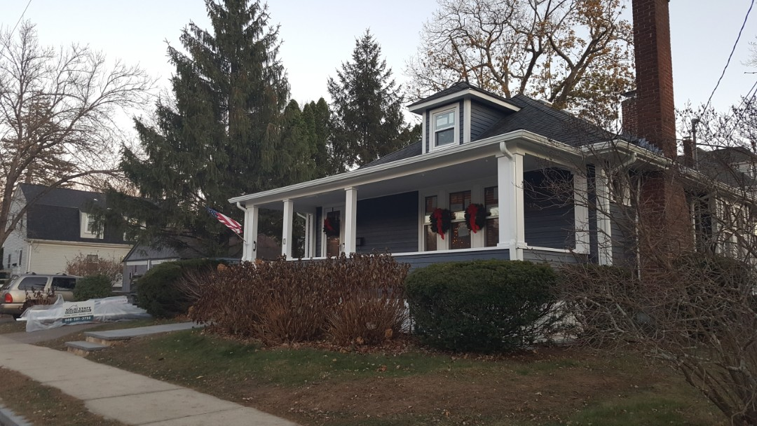 Natick, MA - The owner of this home are very happy with our work in installing their  #JamesHardie #FiberCement #Clapboard #Siding.  They gave us a glowing review.  #SolidStateConstructionMA  #MyHardieHome