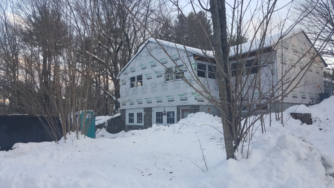 Groton, MA - We install #JamesHardie #FiberCement #Siding all year round.   One of our projects in Groton, MA. #SolidStateConstructionMA  #MyHardieHome