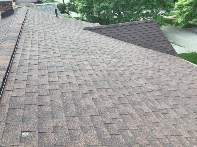 Canton, MI - A beautiful shingle in the color hickory from GAF that we installed for Adrian!