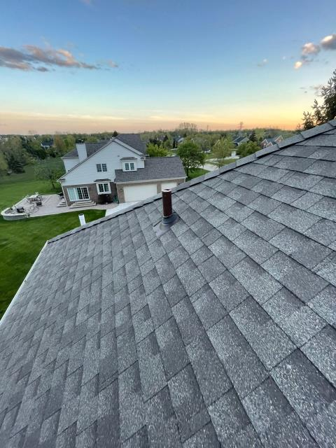 Plymouth, MI - Loving the view I get from up here! #exceptionalroofingmadeeasy