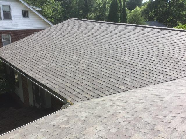 Plymouth, MI - Another stark difference in this before and after. They were in desperate need of a replacement and we are happy to help and provide some peace of mind that their roof is actually protecting their home.