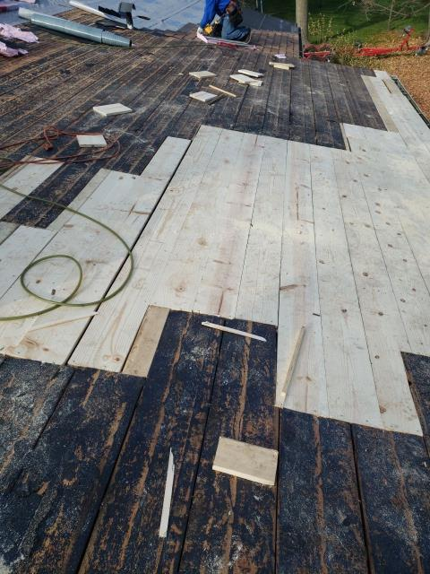 Plymouth, MI - Replacing some boards on the decking for added security and protection!