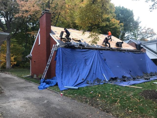 Plymouth, MI - We'll do our best to make sure your home is protected during the reroof process. #exceptionalroofingmadesafe
