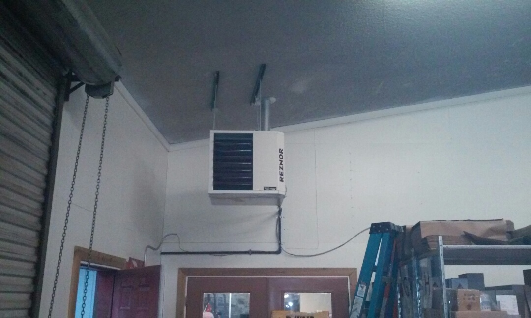 Cedar City, UT - New shop heater in Cedar City Utah
