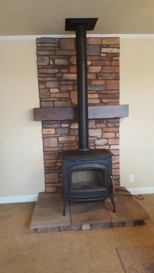 Beaver, UT - New blaze king fireplace in Greenville Utah