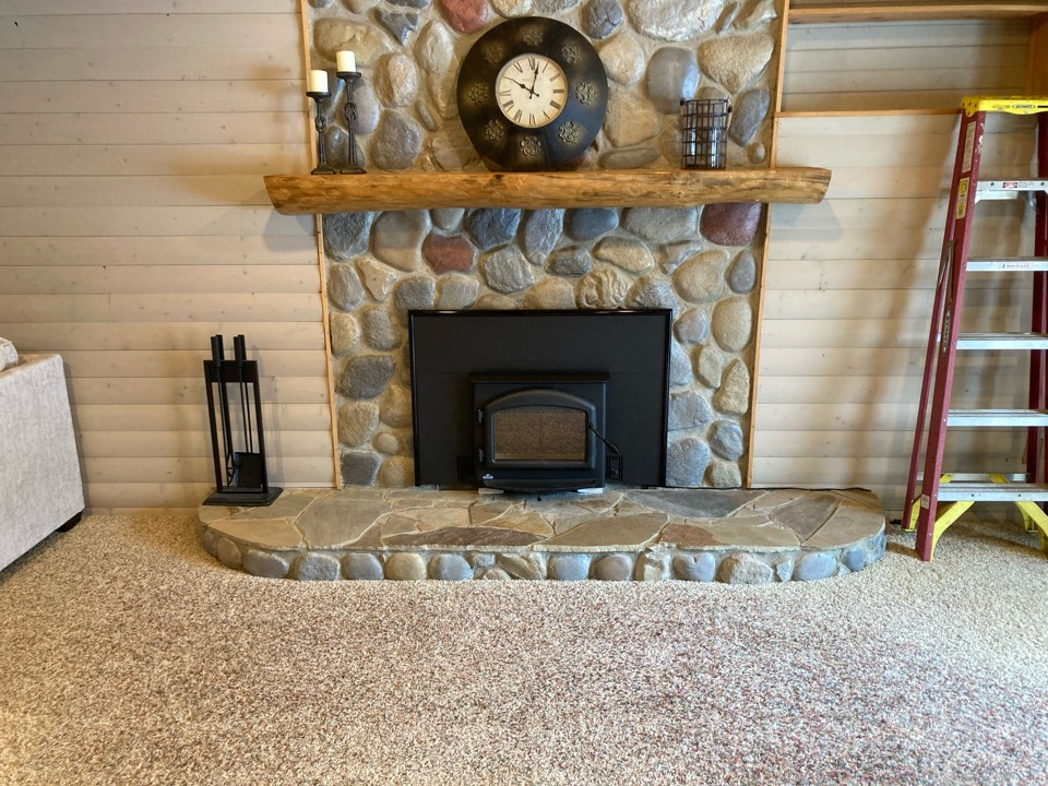 Andover, MN - Installed new wood burning insert