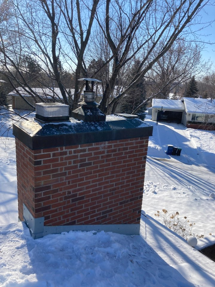 Edina, MN - Chimney and dryer vent clean and smart scan flue liner inspection