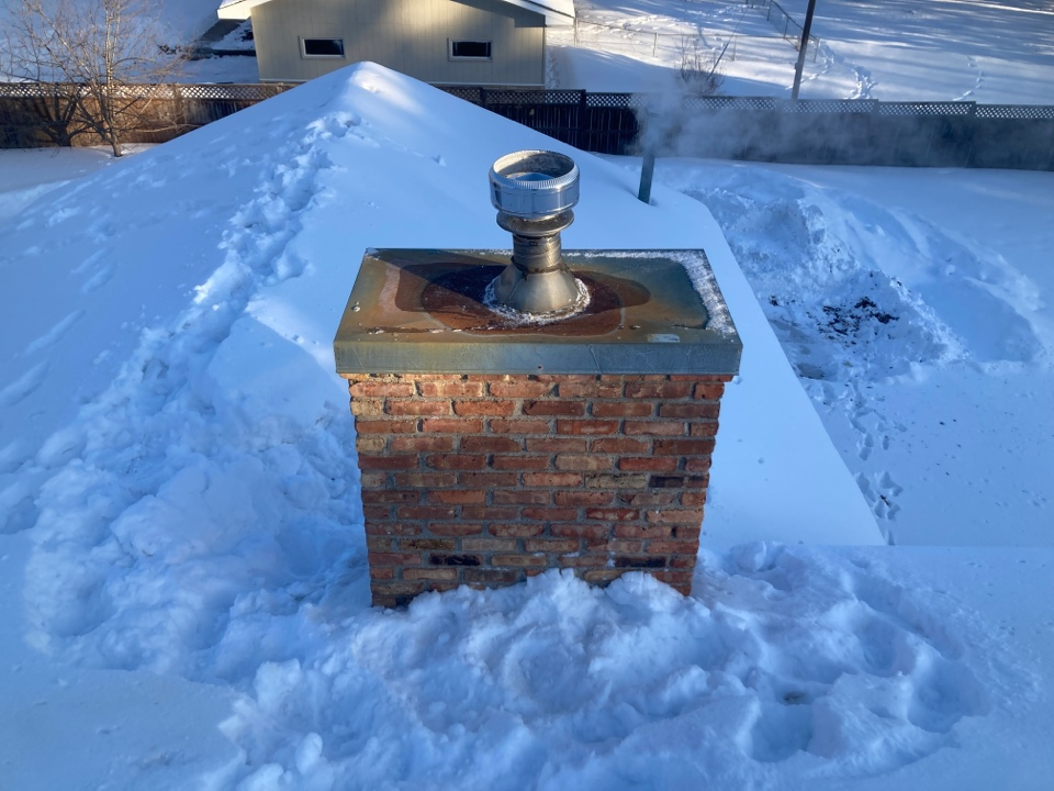 Cambridge, MN - Chimney cleaning and smartscan flue liner inspection- proposal for brick repair and new chase top