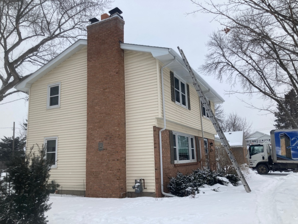 Edina, MN - Annual chimney cleaning and smartscan flue liner inspection