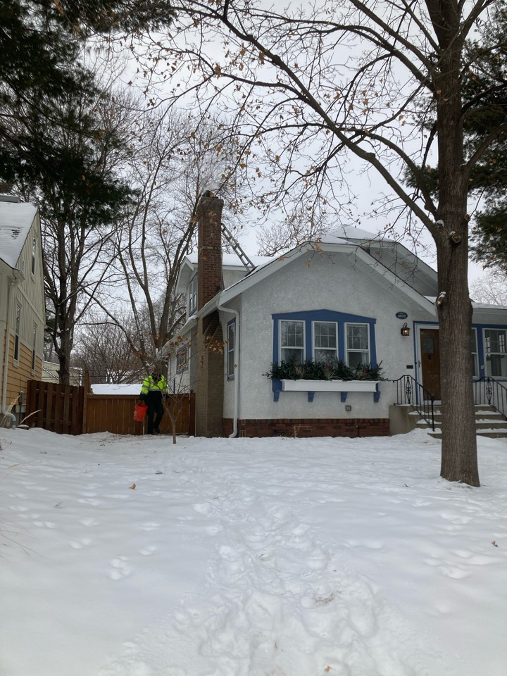 Minneapolis, MN - Prepped chimney for new as lining system