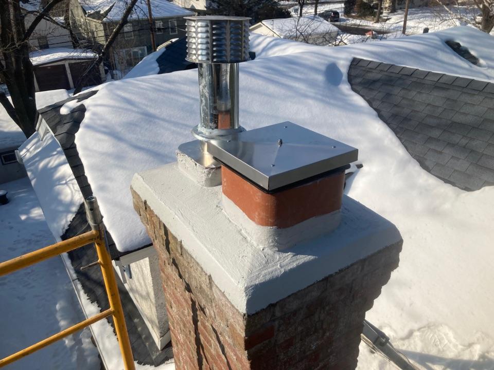 "Minneapolis, MN - New 10"" flue liner for main floor fireplace -"