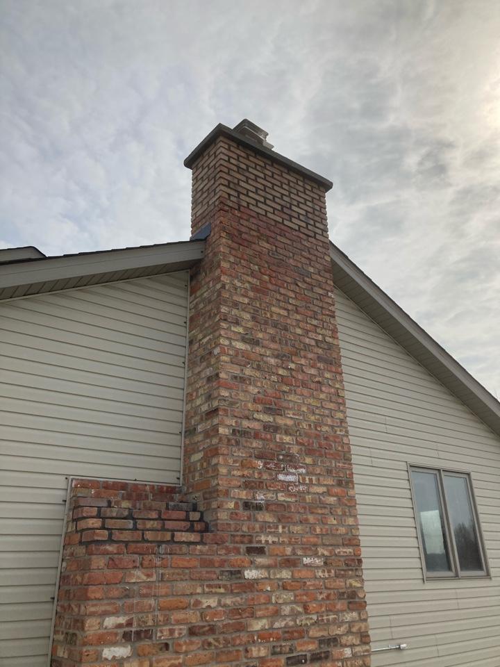 East Bethel, MN - Rebuilt chimney