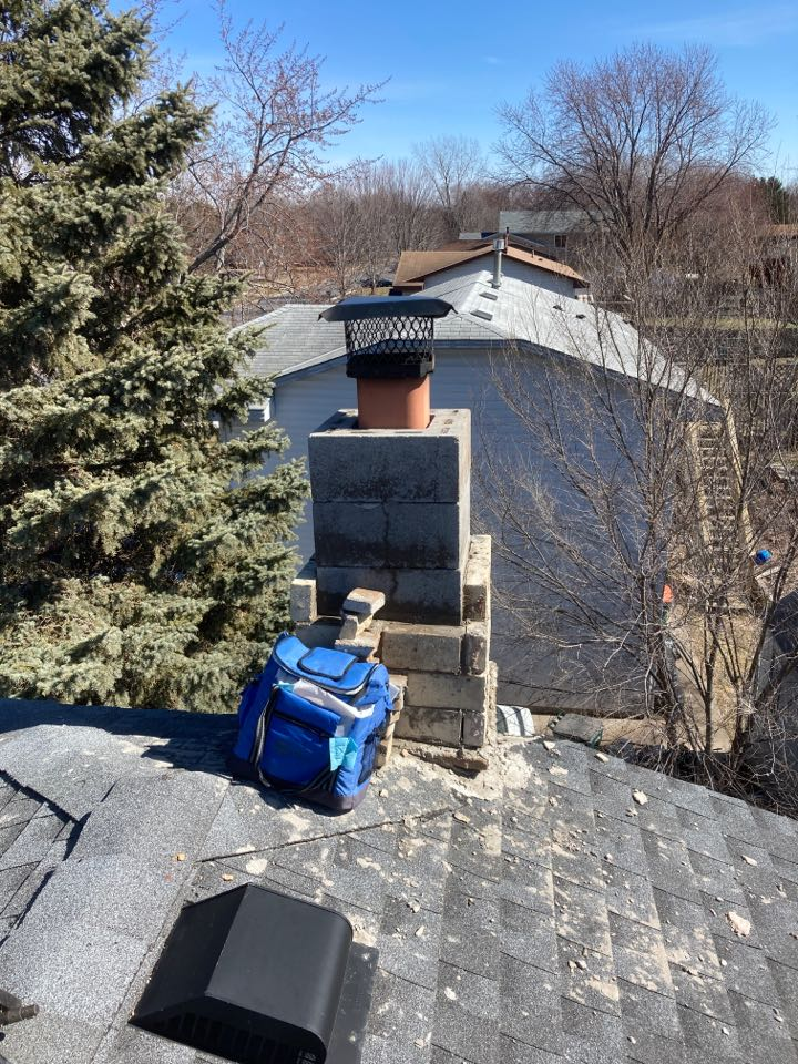 Blaine, MN - Chimney clean and smart scan flue liner inspection