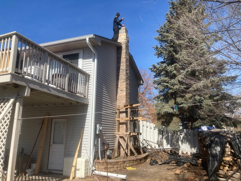 Blaine, MN - Chimney cleaning and smartscan flue liner inspection- proposal for rebuild