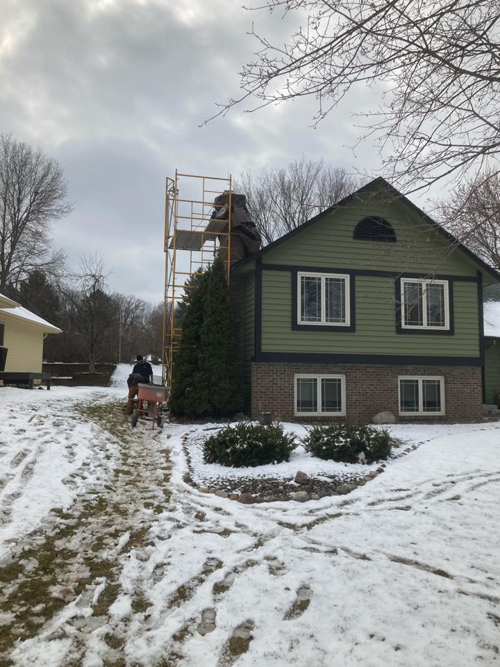 Eden Prairie, MN - Prepped chimney for rebuild