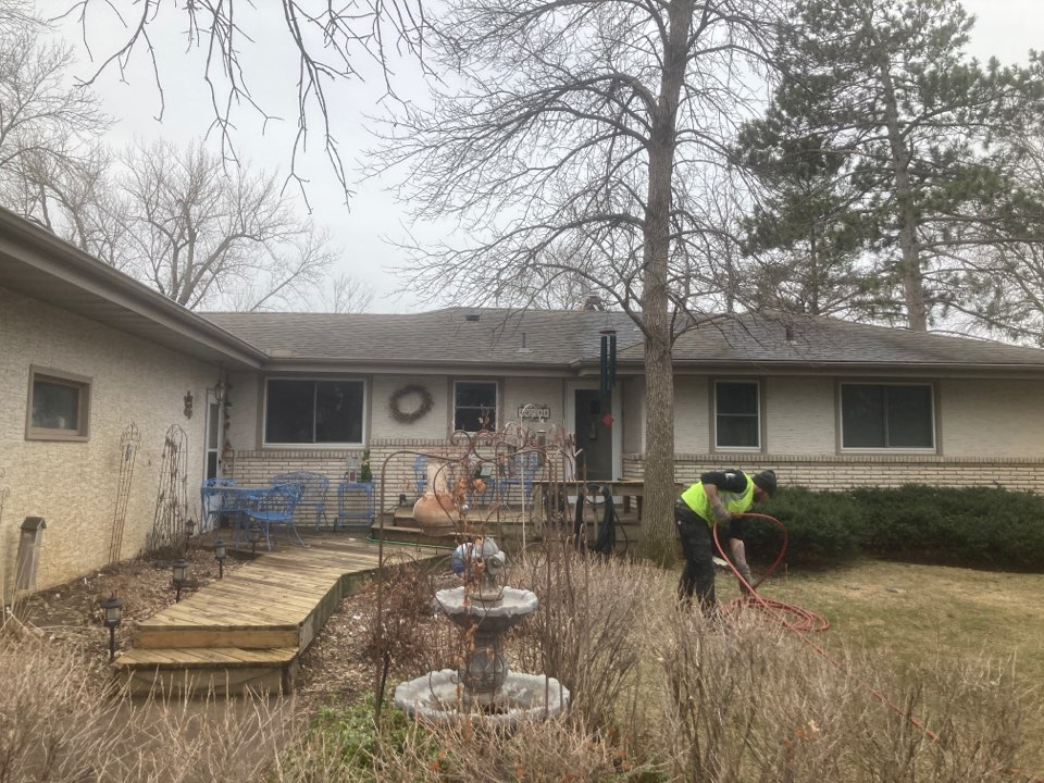 Ramsey, MN - Double main floor reline - chase tear down - prep work for new brick